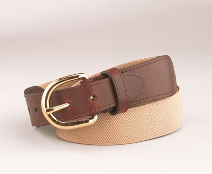"Picture of FB37L - 1"" Elastic Belt with Leather Tab"