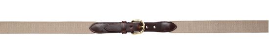 """Picture of FB37WL - 1"""" Cotton Web Belt with Leather Tab"""