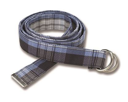 """Picture of FBE36D - 1"""" Plaid D Ring belt"""