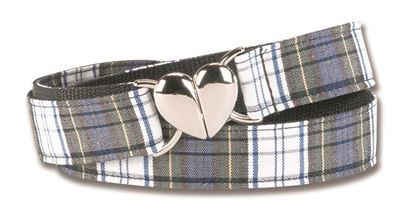 """Picture of FBE36H - 1"""" Plaid Heart Buckle belt"""