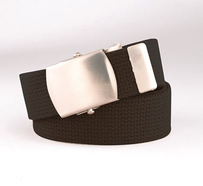"Picture of FB35L - 1 1/4"" Webbed Belt with Military Buckle"