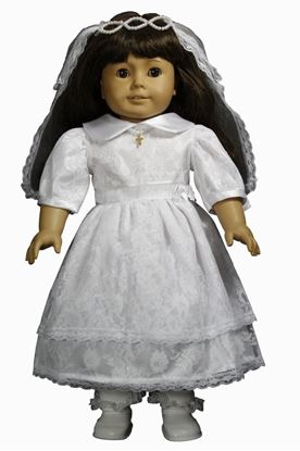 Picture of FBE139 - First Communion Doll Dress